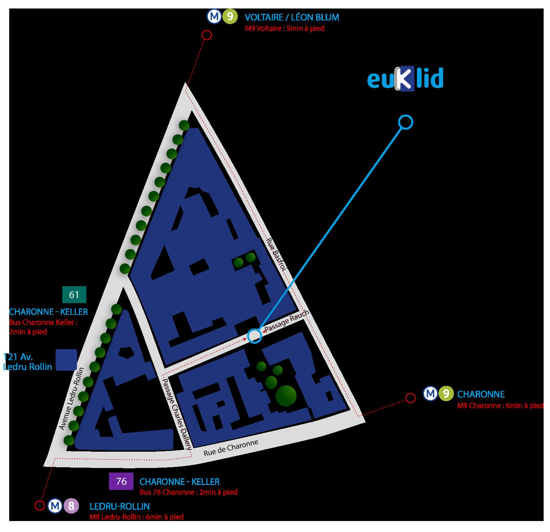 Plan d'accès au cabinet de conseil SI Euklid